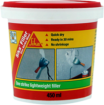 Sika® Filler One Strike is revolutionary ready-mixed lightweight filler used prior to painting/ wallpapering.