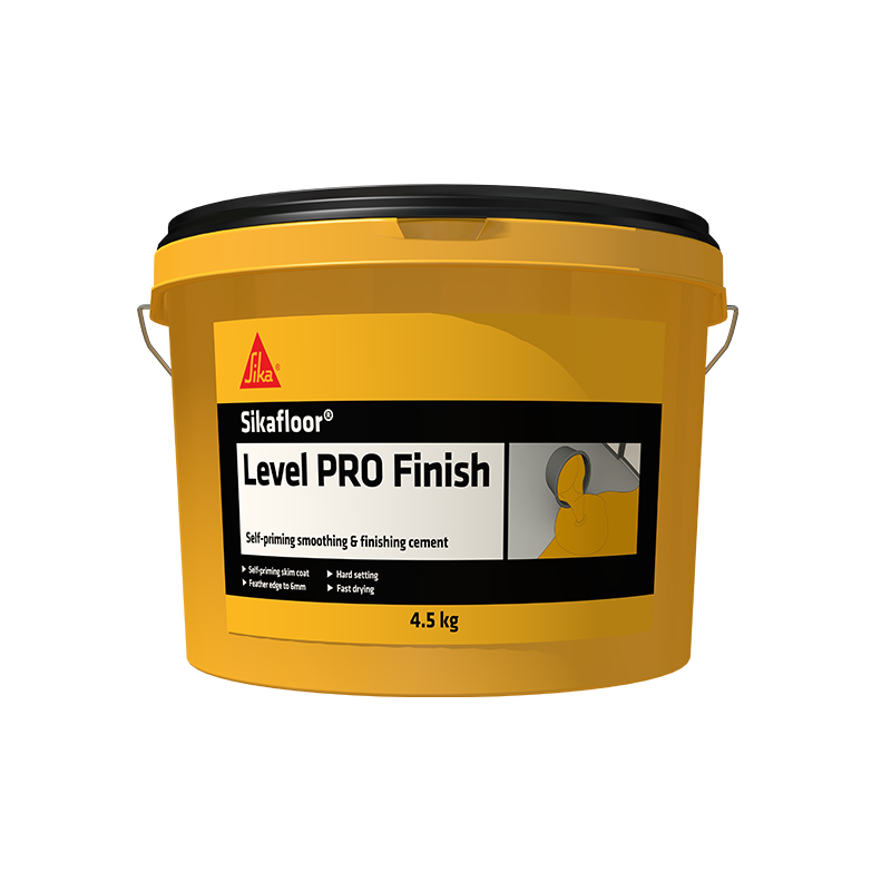 Sikafloor Level Pro Finish is a fast-drying, patching and finishing compound