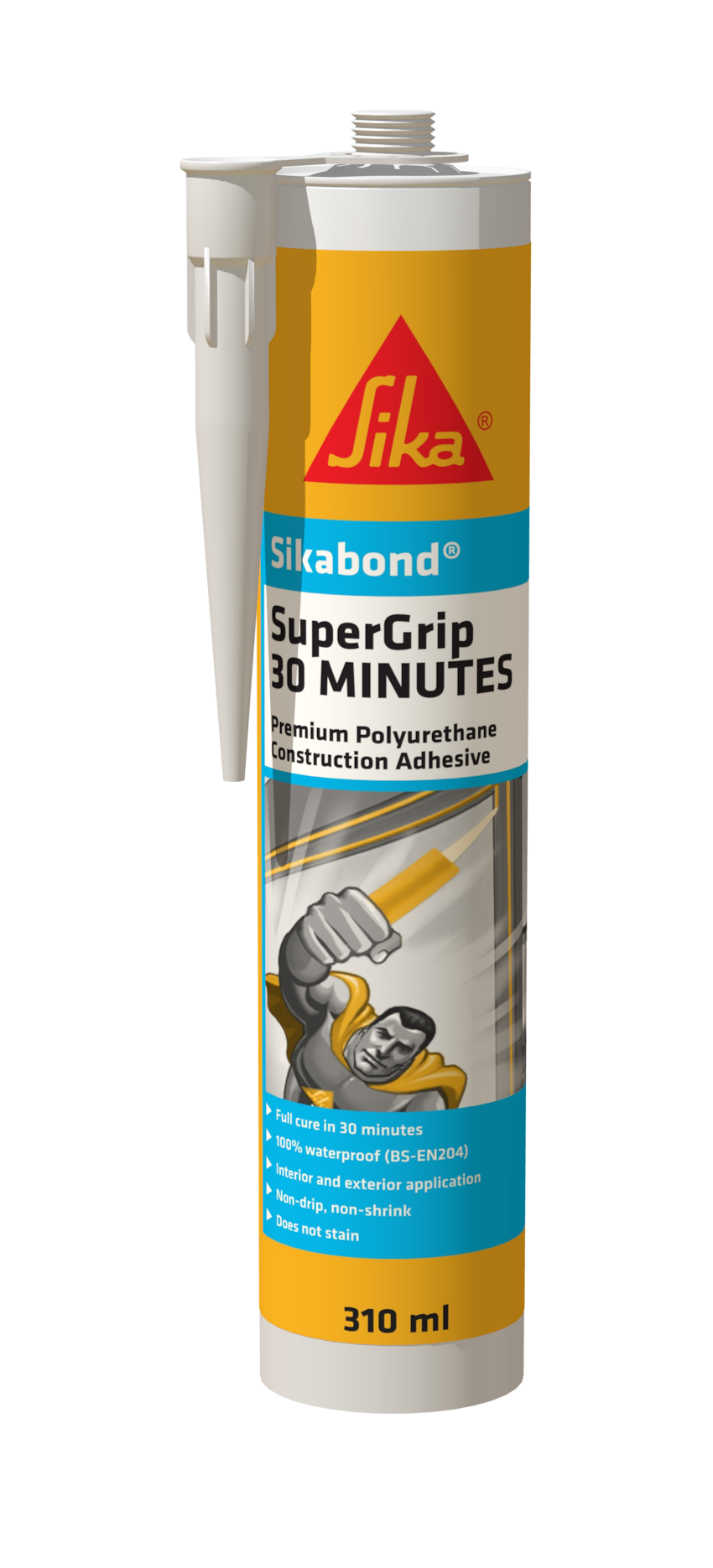SUPERGRIP® 30 MINUTE is a polyurethane construction adhesive